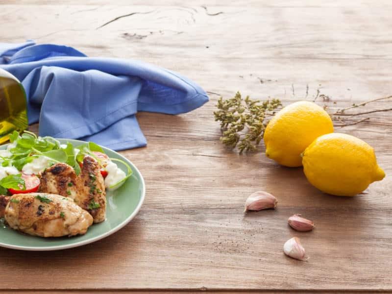 Poulet grillé et salade de Mozzarella - Galbani
