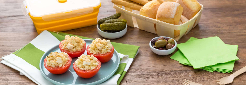 Tomates farcies au couscous et à la Mozzarella - Galbani
