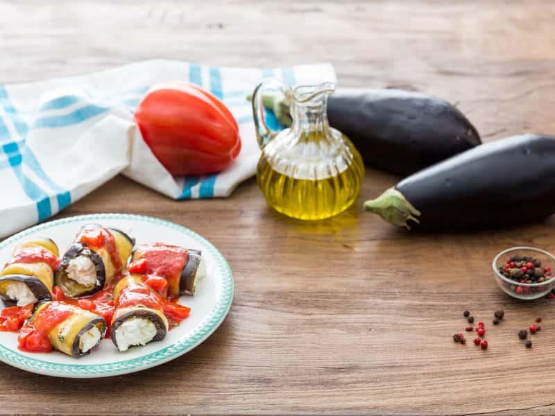 Roulés d'aubergines farcies à la Ricotta - Galbani