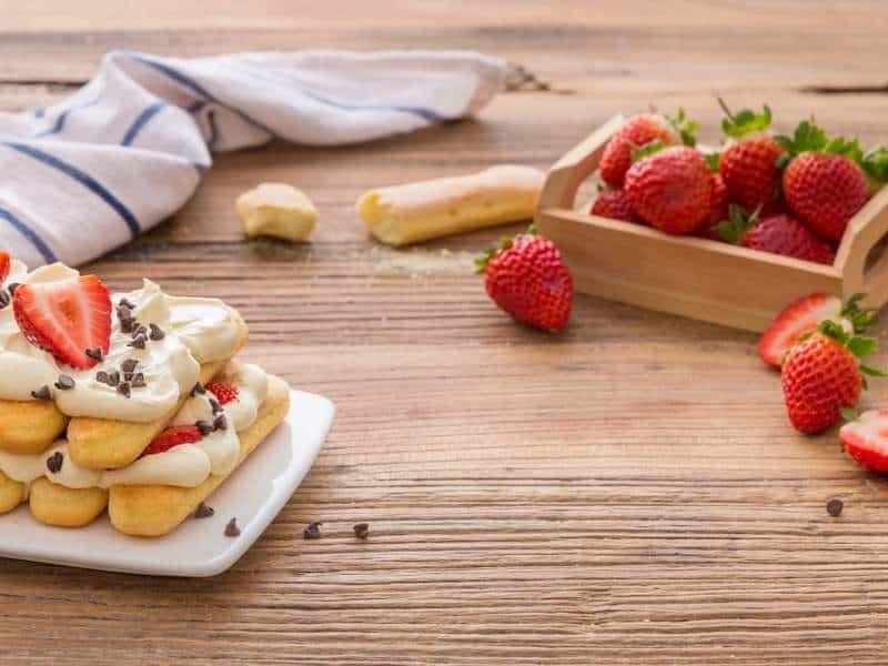 Tiramisù aux fraises et citron - Galbani