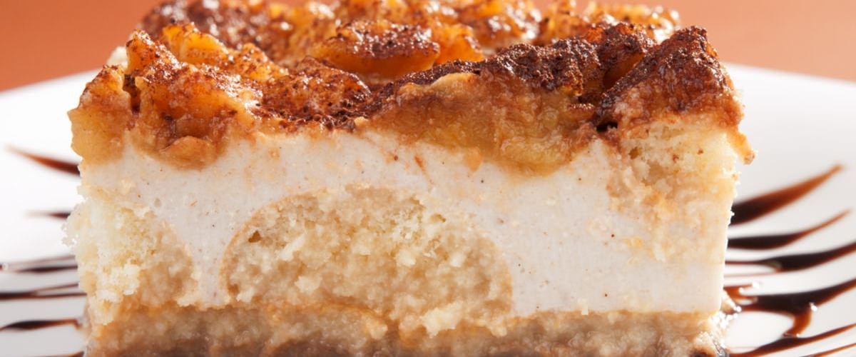 Tiramisu pomme caramélisée et palets bretons
