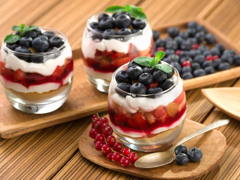 Tiramisu aux fruits rouges en verrines - Galbani