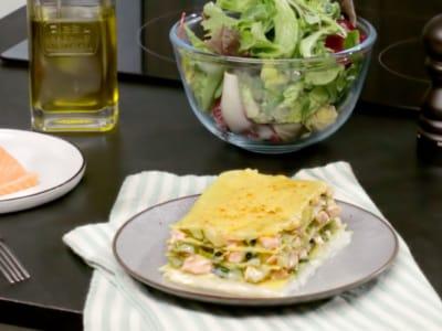 Lasagnes au saumon et aux poireaux - Galbani