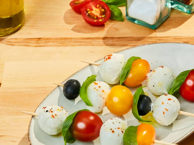 Crostinis à la ricotta, au pesto et poivrons rôtis - Galbani
