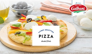 Home made pizza - Livret Recette Galbani