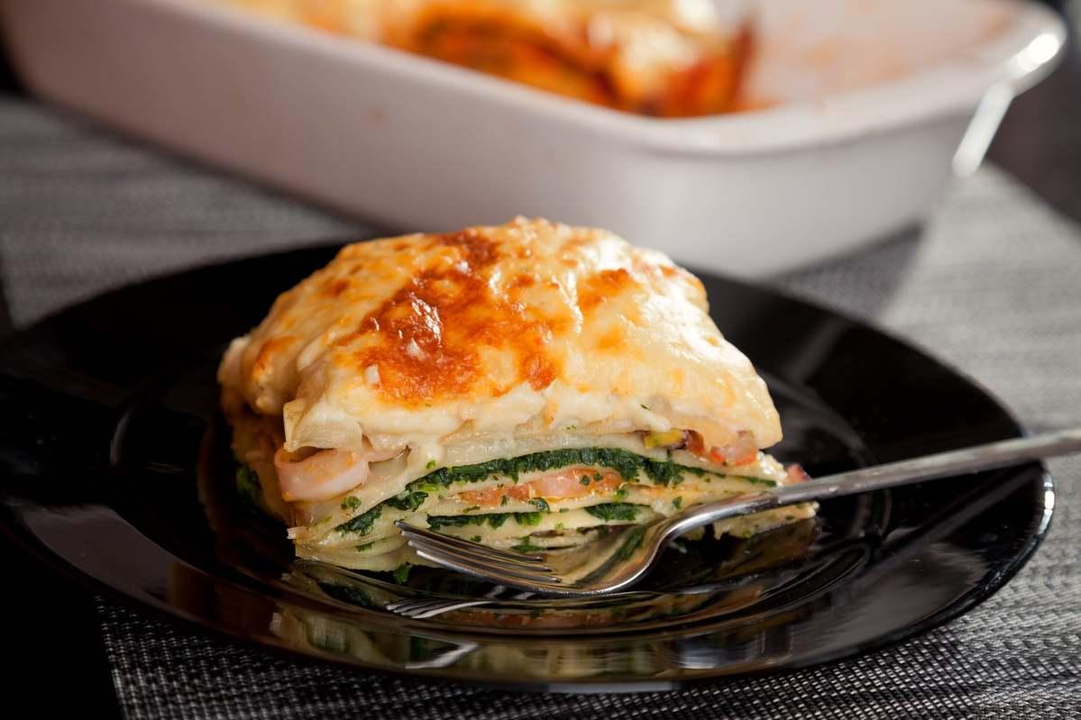 Lasagne Idee Recette.Lasagnes Aux Deux Saumons Ricotta Et Epinards
