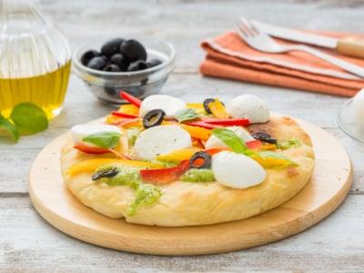 Pizza aux légumes croquants et à la Mozzarella - Galbani