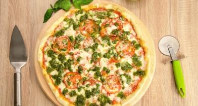 Pizza au pesto et aux tomates cerises - Galbani
