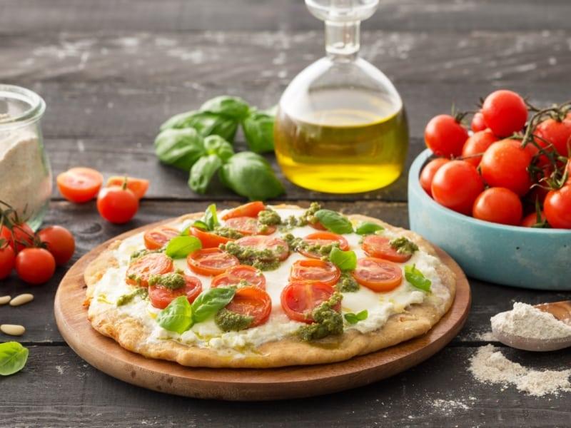 Pizza Pesto et tomates - Galbani