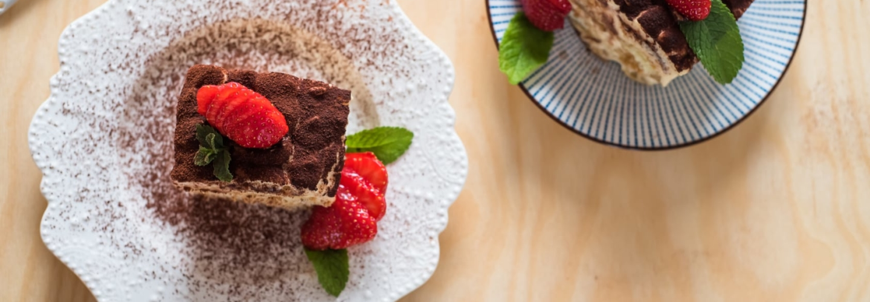 Tiramisu cacao et fraises