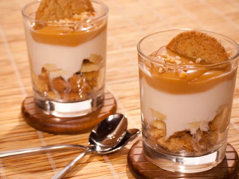 Tiramisu au caramel et palets bretons - Galbani