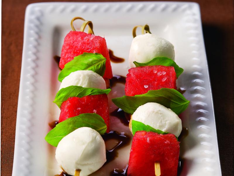 Brochettes Mozzarella et pastèques - Galbani