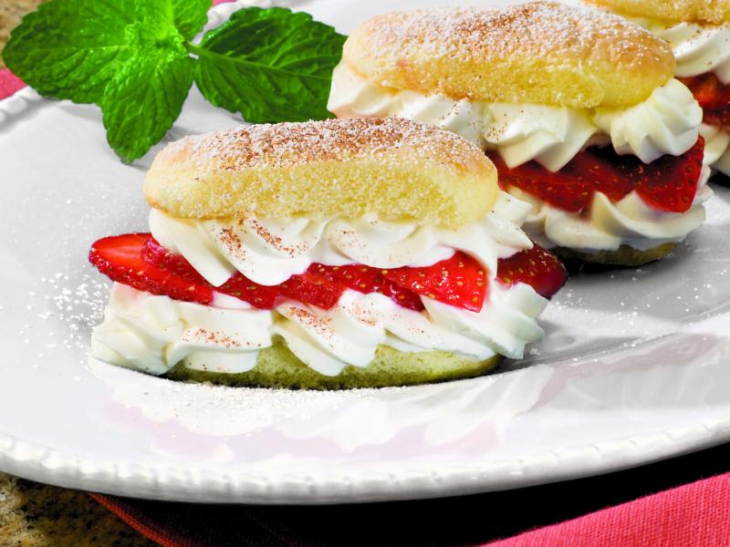 Gâteaux aux Fraises et à la Ricotta - Galbani