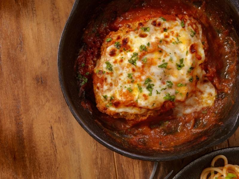 Poulet au Parmesan Grillé avec ses Spaghetti de Courgettes - Galbani