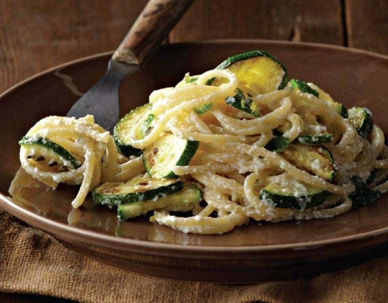 Spaghettis Ricotta, Ail et Courgettes - Galbani